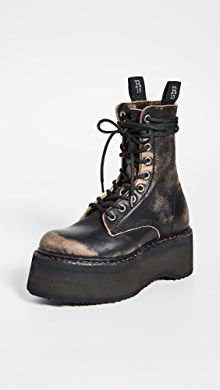 Stella McCartney Lace-Up Boots | SHOPBOP R13 Denim, Denim Branding, Distressed Leather, Lace Up Boots, Shoe Boots, Bootie Boots, Stella Mccartney, Combat Boots, Heels