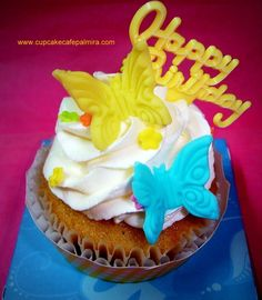 Cupcake HBD Butterfly