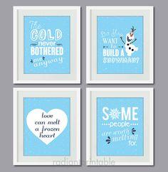 "Disnye Frozen Quote : Quote Printable Art , Typography Print - 8 x10 "" Digital Printable Wall Art - INSTANT DOWNLOAD"