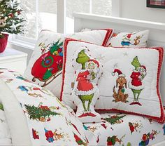 Find kids bed sheets including organic sheets at Pottery Barn Kids. Shop kids sheets in fun prints and colors for twin and full beds. Grinch Christmas, Christmas Ideas, Christmas Stuff, The Grinch, Xmas, Christmas Pajamas, Family Christmas, Holiday Ideas, Christmas Crafts