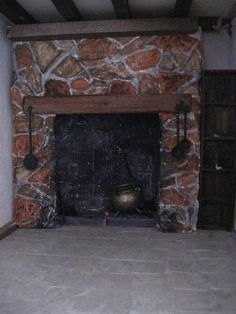 Stone Fireplace Pictures, Tudor House, Miniature Rooms, Bed Reviews, Best Mattress, Dolls, Pillows, Cottage Ideas, Dollhouses