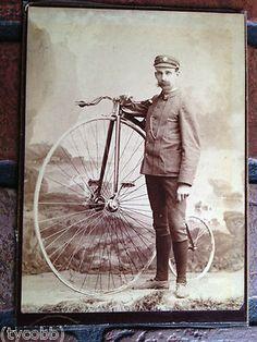 High Wheel Penny Farthing Bicycle Cabinet Card Newton MA USA RARE   eBay