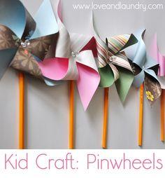 #papercraft #pinwheels By Sugar Bee Crafts: Pinwheels - Kid Craft Contributor