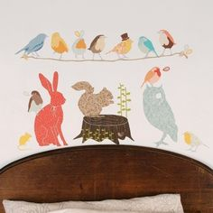 Wall Decal Woodland Critters Reusable and by LoveMaeStore on Etsy, $75.00