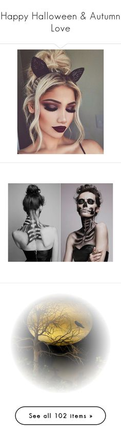 """Happy Halloween & Autumn Love"" by ragnh-mjos ❤ liked on Polyvore featuring Halloween, autumnlove, happyhalloween, art, norway, Troll, artset, hair, hairstyles and makeup"