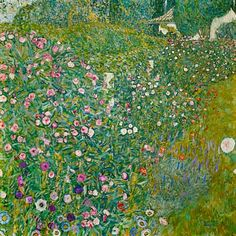 Titre de l'image : Gustav Klimt - Paysage de jardin italien