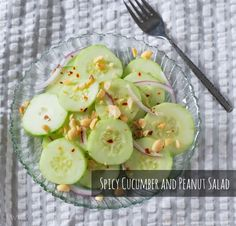 Spicy Cucumber and Peanut Salad Recipe. My new favorite snack!
