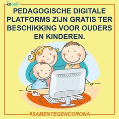 Pedagogische digitale platforms zijn gratis ter beschikking voor ouders en kinderen. Peanuts Comics