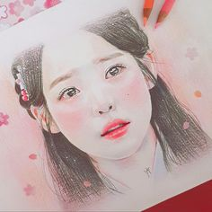 Copic Drawings, Kpop Drawings, Art Drawings Sketches Simple, Korean Painting, Painting & Drawing, Princess Art, Color Pencil Art, Drawing People, Lovers Art