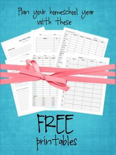 Free printables to plan your homeschool year!