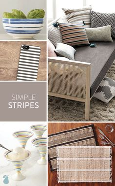 Stripes is one of the most simplistic 2015 design trends and Pear Tree's spotted this pattern sprinkled across everyday products you'll love! #design #stripes
