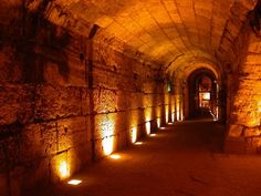 underground tunnel leading to King David's tomb.  Actually, anything at the Holy Land would be so spine-tingling to think back to Bible days and imagine David or someone else walking around a palace!