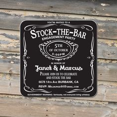 Stock the bar party Invitation Coasters  Craft Paper by Product80, $0.85