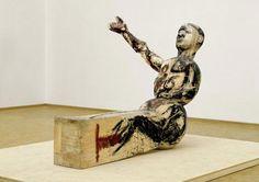 Modell für eine Skulptur / Modèle pour une sculpture, 1979 – 1980, Tilleul et tempera, 178 x 147 x 244 cm, Museum Ludwig, Cologne, Photo : Frank Oleski © Georg Baselitz