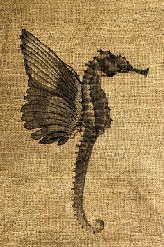 Seahorse with Wings  Download and Print  Image Transfer  by room29, $1.00