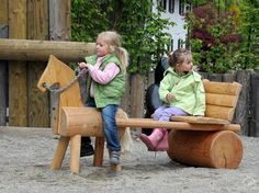 Richter Spielgeräte: Image examples small children - New Site Natural Playground, Backyard Playground, Backyard For Kids, Diy For Kids, Playground Ideas, Outdoor Play Areas, Outdoor Fun, Play Equipment, Kids Wood