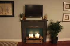 If you want to add instant character, charm and warmth to your space, this is the project for you! This DIY fake fireplace is a great way to...