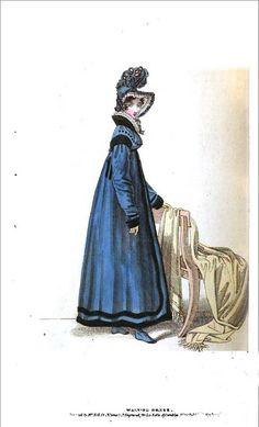 Walking dress, La Belle Assemblee Magazine ca. 1818