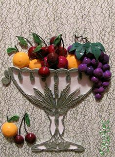 Quilled Fruit Bowl - by: Svetlana of DuArt