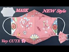 NEW Design DIY Face Mask Hawk Style VERY CUTE | Face Mask Sewing | NO FOG Glasses Wearer FACE MASK - YouTube Clear Face Mask, Blue Face Mask, Easy Face Masks, Diy Face Mask, Easy Sewing Projects, Sewing Hacks, Sewing Tutorials, Sewing Patterns, Diy Mask