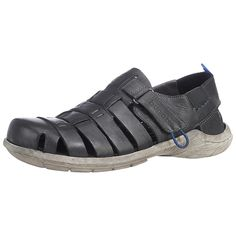 Für den edlen Mann verschafft die Marke bugatti eine gute Lösung für die hohen Temperaturen: Die bugatti Sandale! Diese besitzt ein hochwertiges, leicht strukturiertes Obermaterial aus Leder, das mit diversen Aussparungen ausgestattet wurde. Der praktische Klettverschluss sorgt für ein schnelles An- und Ausziehen. Die lederne Decksohle bietet einen weichen und angenehmen Schlupf für den Fuß.  O...