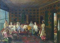 Interior turcesc Interior, Painting, Europe, Kunst, Indoor, Painting Art, Paintings, Interiors, Painted Canvas