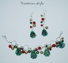 pearls and polymer clay beads set