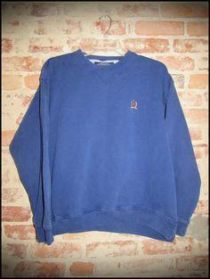 Vintage 90's Tommy Hilfiger Classic Blue Crewneck Sweatshirt by RackRaidersVintage