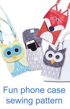 Fun animal phone case sewing pattern
