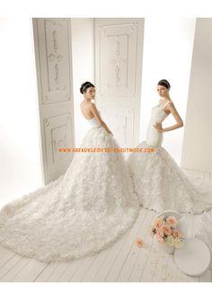 2013 Luxuriöse Brautmode dramatisch aus Taft mit Ruflle mit Kapelleschleppe