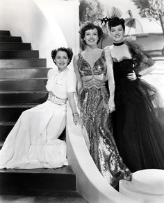 Norma Shearer, Joan Crawford, and Rosalind Russel in The Women, 1939,  Dresses by Gilbert Adrian