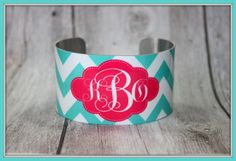 Monogrammed Cuff Bracelet Personalized Cuff by ChicMonogram, $25.00