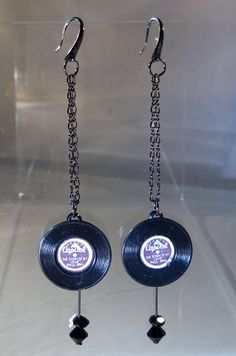 Rock and Roll Earrings by blingbychristine on Etsy, $6.00
