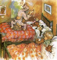 illustration from Dogger by Shirley Hughes. I read this book soooo many times to my 3 girls! Shirley Hughes, Children's Book Illustration, Book Illustrations, Noel Christmas, Christmas Decor, Vintage Children's Books, Penny Black, Painting & Drawing, Baby Drawing