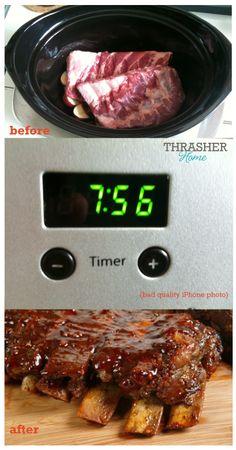 a simple {crock pot} recipe :: bbq ribs   theSIMPLEmoms