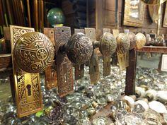 big old pile of door knobs \