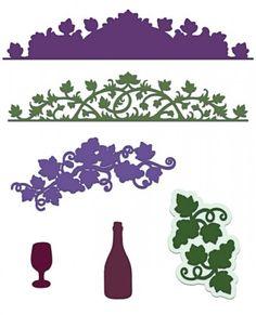 Italiana Grape Clusters Die: click to enlarge