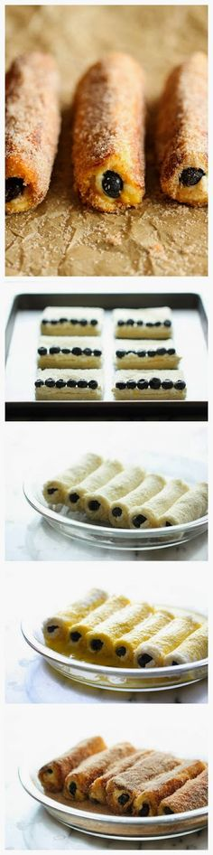 Blueberry French Toast Roll Ups | #Food