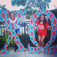 Chi Omega at Texas Tech University #ChiOmega #ChiO #BidDay #letters #sorority #TexasTech