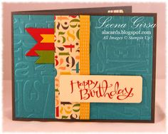 Birthday card using Birthday Basics DSP and Sassy Salutations stamp set by Stampin' Up