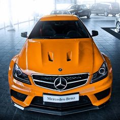 Tangerine Mercedes C63 AMG