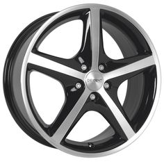 MODEL: RL OF DEZENT ALLOY WHEELS IN BLACK POLISHED FACE COLOUR CHECK @ http://www.turrifftyres.co.uk #cars #DEZENT #alloy #wheels #rim