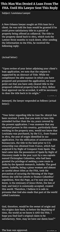 This Man Was Denied A Loan From The FHA Until His Lawyer Sent This Reply...