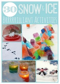 Ice And Snow Activities: Lots of great ideas to try!