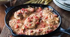 Herbed Chicken and Tomatoes - will make this again, though next time instead of using garlic powder, I will sauté the chicken with fresh garlic and omit it from the herb mix.