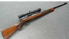 Winchester model 88 .308 caliber Lever Action, box magazine inserts below .   5 shot