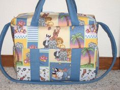 Bazooples Zoo animals Diaper Bag w/change pad by by emijane