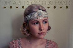 2. The Art Deco Headband | Three Glamorous DIY Gatsby-Inspired Headbands