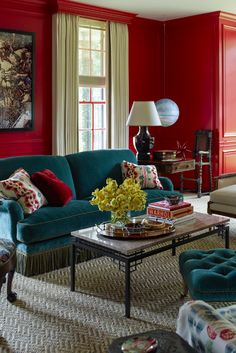 Living room red walls bedroom red walls in living room latest paint c Bedroom Red, Home Decor Bedroom, Bedroom Wall, Red Interior Design, Interior Design Inspiration, Living Room Red, Elderly Home, Red Walls, Home Decor Signs