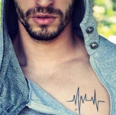 heartbeat tattoo for men - Google Search